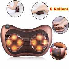Heat Massage Pillow Shiatsu Deep Kneading Massager Relax Neck Back Shoulder Pain