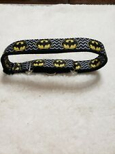 "Omies Large/Xlarge Safety ""Batman"" Themed Martingale Pet Dog Collar 18""- 31"" USA"