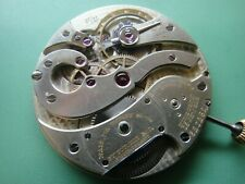 Stunning TIFFANY TOUCHON fancy plate pocket watch movement, 19J Extra grade RUNS