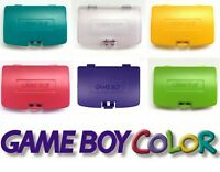 Game Boy Color GBC Battery Cover Doors - Kiwi Dandelion Atomic Purple Teal Grape