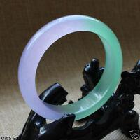 Chinese Natural Beautiful Lavender Green Nephrite Jade Bangle Bracelet 61mm