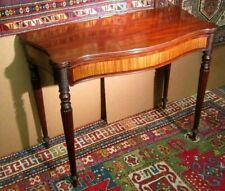 """38"""" WIDE ANTIQUE AMERICAN BOSTON FEDERAL  TABLE W/ SATINWOOD PANELS CIRCA 1800"""