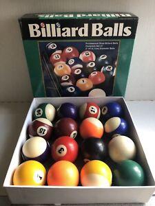 "Sportcraft Professional Style Billiard Balls P/N 27041SC08 Complete Set 2 1/4"""