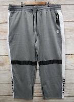 Rocawear Joggers Mens Size 3XL Grey Zipper Bottom Sweat Jogger Pants New
