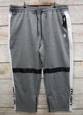 """Rocawear Mens Size 6XL (Waist 44-60"""") Grey Zipper Bottom Sweat Jogger Pants New"""