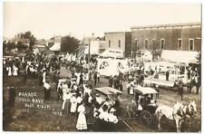 Blue River Wisconsin (Grant County) Dooley Bros. & Field Days Parade RPPC c.1909