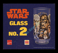 STAR WARS ☆ Coca-Cola ☆ BURGER KING 1978 STORE DISPLAY MOVIE POSTER GLASSES CARD