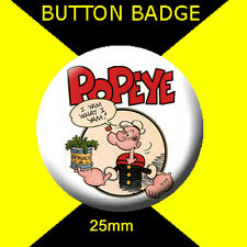 POPEYE I YAM - LOGO - CULT  -  Button Badge