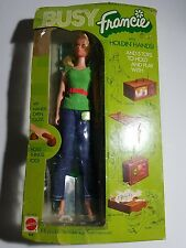 1971 Busy Francie Holding Hands Mod Barbie Doll Model 3313 NIP ! Extremely rare!