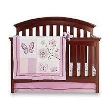 NoJo Little Bedding 3 Piece Crib Bedding Set - Butterfly  Blossoms