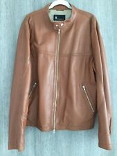 Moreschi Men's Jacket Brown Leather Size 58