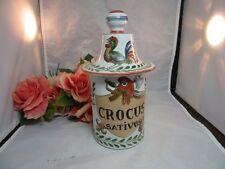 Apothecary jar. CROCUS Sativus. P.Borisquet Apothicoure a Toulouse France