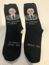 """Pair of Dr.Anthony Fauci  """"fan club""""  socks for men"""