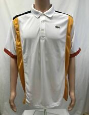 NWT Lacoste Men's Sports Short Sleeve Ultra Dry ColorBlock Polo, Sizes XL-3XL