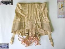 1920s ANTIQUE FRENCH LADIES COTTON CORSET MARKED SILHOUETTE