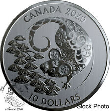 Canada 2020 $10 Year of the Rat 1/2 oz. Pure Silver Coin