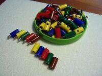Stecker/ Muffen-Sortiment - 40 Stück/ 5 Farben z.B. für Märklin #F