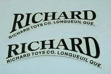 Richard Toys Ride On Truck door decal set (white) - pressed steel - Canada