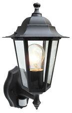 PowerMaster Wandlaterne schwarz mit PIR Bewegungsmelder + LED Lampe 10w ES E27