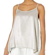 PJ Harlow Womens Sleepwear Silver Size XS Satin Daisy Sleepshirt $49- 881