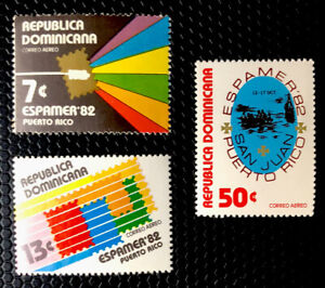 Dominican Republic Stamps Sc C365-C367 MNH
