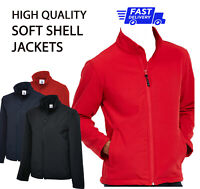 PLAIN NO TEXT Soft SHELL JACKET Casual Outdoor Work Wear HQ Clothing Waterproof