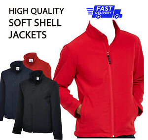 PLAIN NO TEXT Soft SHELL JACKET Casual Outdoor Work Wear Clothing Waterproof P