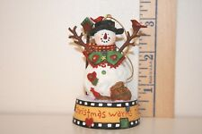 San Francisco Music Box Ornament - Christmas Warms The Heart - Medley - Snowman