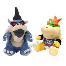 2pcs Super Mario Bros Dark Bowser & Bowser Jr. Koopa Plush Doll Toy Figure Gift