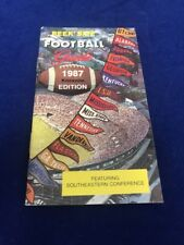 1987 Peek' Size Collector's Favorite Football Guide Knoxville Tennessee SEC 48th