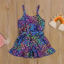 1-6Y Summer Fashion Toddler Kid Girl Clothes Casual Sleeveless Strap Leopard Pri