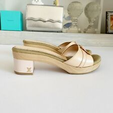 Louis Vuitton Baby Pink Patent Shoes With Block Heel, Sz 36