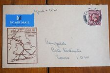 More details for 1934 isle of wight cowes first flight cover airmail stamp
