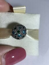 """NEW AUTHENTIC PANDORA CLIP """"Cosmic Stars, Multi-colored Crystals & Teal CZ"""