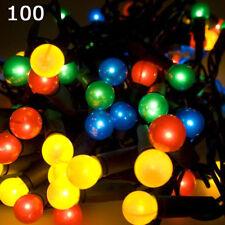 SUPER luminosi 100 LED MULTI colore Luci di Natale di bacche 8 modalità Indoor Outdoor