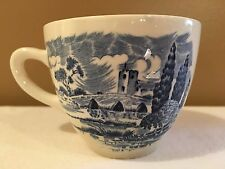 Wedgewood China Cup White Blue COUNTRYSIDE Made In England