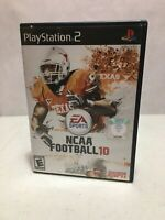 NCAA Football 10 Sony PlayStation 2 2009 Disc Case Manual Complete Football PS2