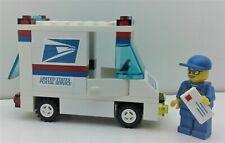 Lego Custom City USPS Mail Delivery set. Truck. MailMan minifig. & Envelope.