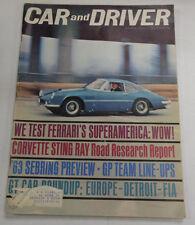 Car And Driver Magazine Ferrari & Corvette Sting Ray April 1963 040317nonr