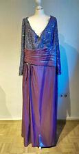 Abendkleid lang, Ballkleid, A-Linie, Gr. 50, Höpfner, violett, lila, Taft Spitze