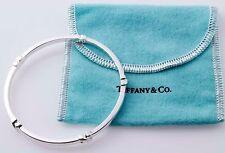 Sweet Shining Tiffany & Co Sterling Silver Signature X Bangle Bracelet