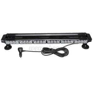 54 LED Car Emergency Traffic Advisor Double Side Warning Strobe Light Bar Amber