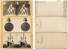 Stereoviews (3), Italy, Florence (Firenze), statuary/objects (statue/oggetti)