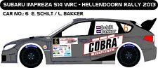 DECALS 1/43 SUBARU IMPREZA WRC - #6 - SCHILT - RALLYE HELLENDOORN 2013 - D43250