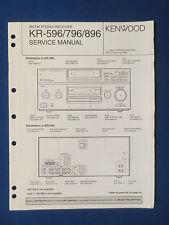 KENWOOD KR-596 KR-796 KR-896 RECEIVER SERVICE MANUAL ORIGINAL GOOD CONDITION