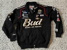 Vintage Dale Earnhardt Jr Budweiser Nascar Racing Jacket Twill Mens Medium