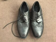 Mens Black Lace Up Shoes Size 8 from Next