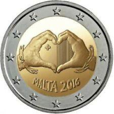 Malta  2016  2 euro commemo  Amour   UNC uit de rol - UNC du rouleaux !!