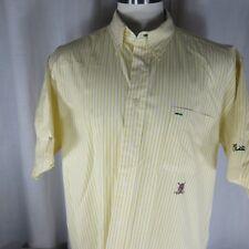 Tommy Hilfiger Golf San Geronimo XL Yellow White Striped Button Down Shirt