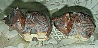 Vintage 2x. Warrawong Pottery WOMBAT Figurines Australian Native Animals